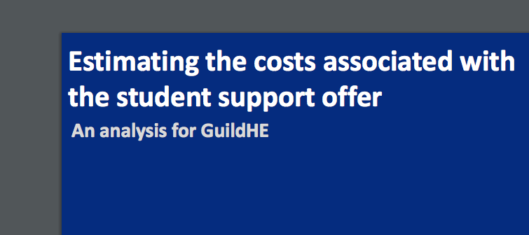 Estimating the costs associated with the student support offer